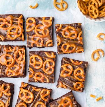 Pretzel brownie